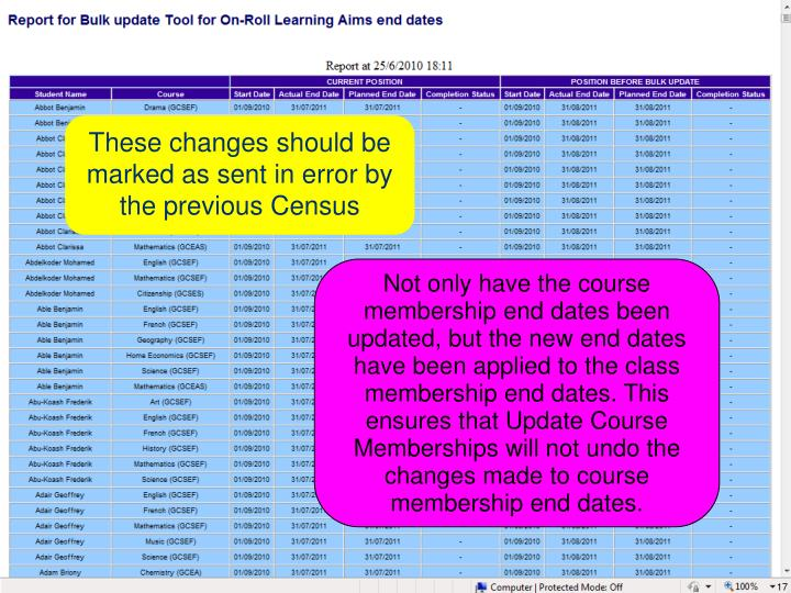 These changes should be marked as sent in error by the previous Census