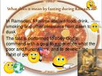 what does it mean by fasting during ramadan