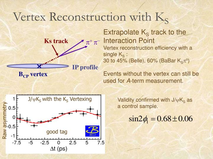 Vertex Reconstruction with K