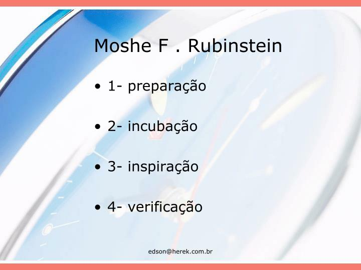 Moshe F . Rubinstein
