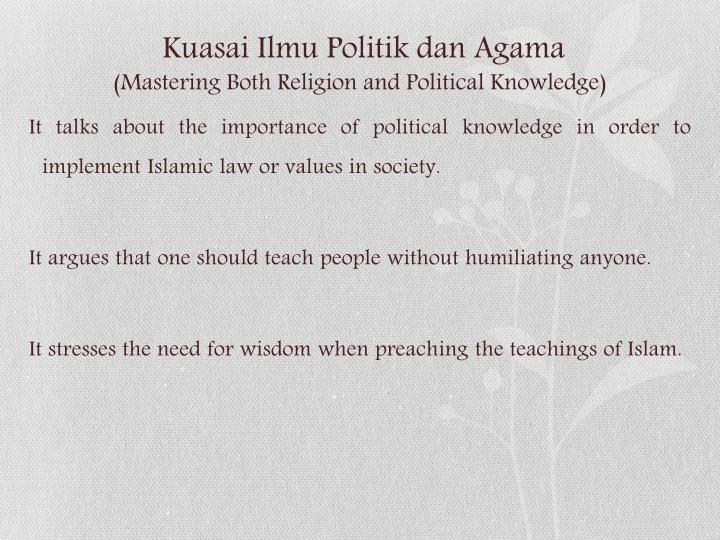 Kuasai Ilmu Politik dan Agama
