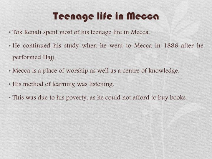 Teenage life in Mecca