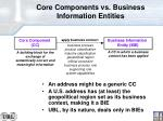 core components vs business information entities