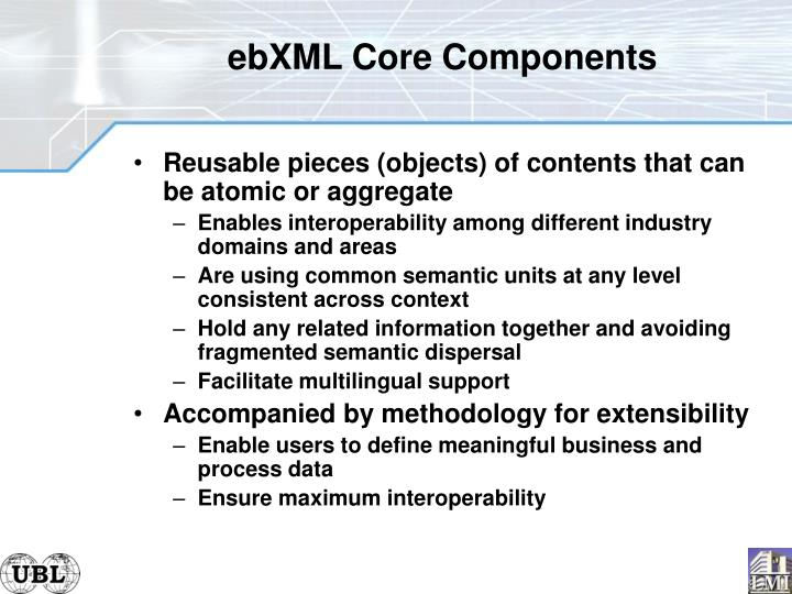 ebXML Core Components