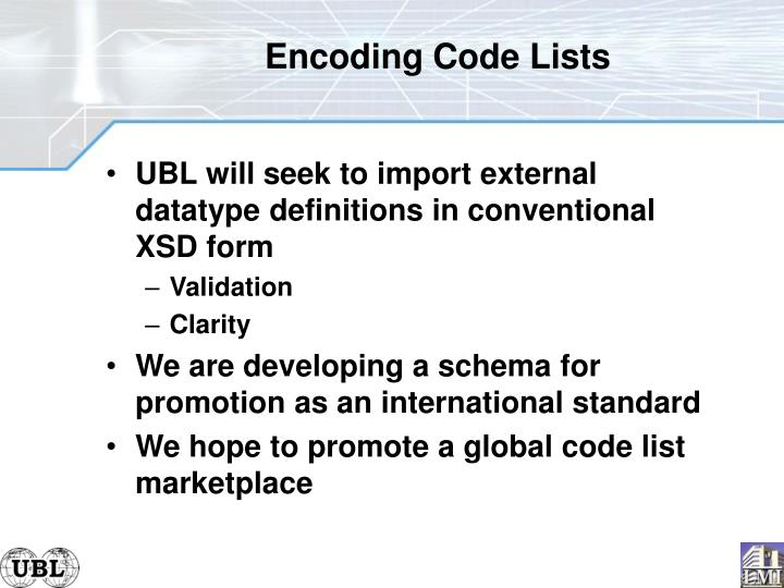 Encoding Code Lists