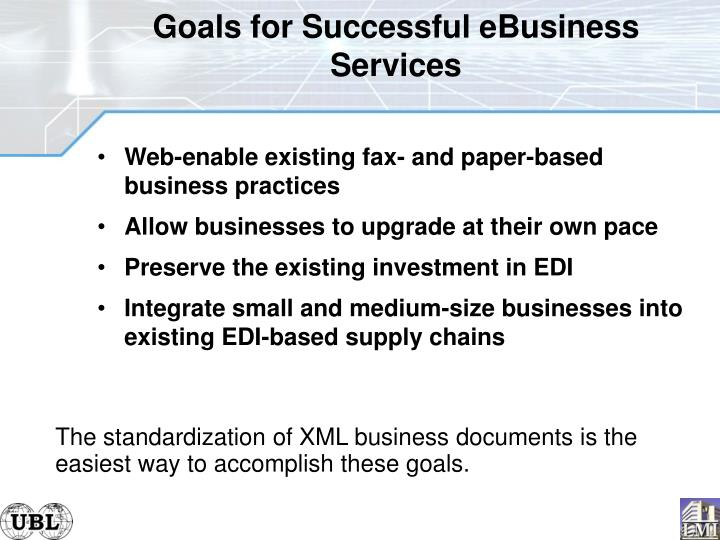 Goals for Successful eBusiness Services