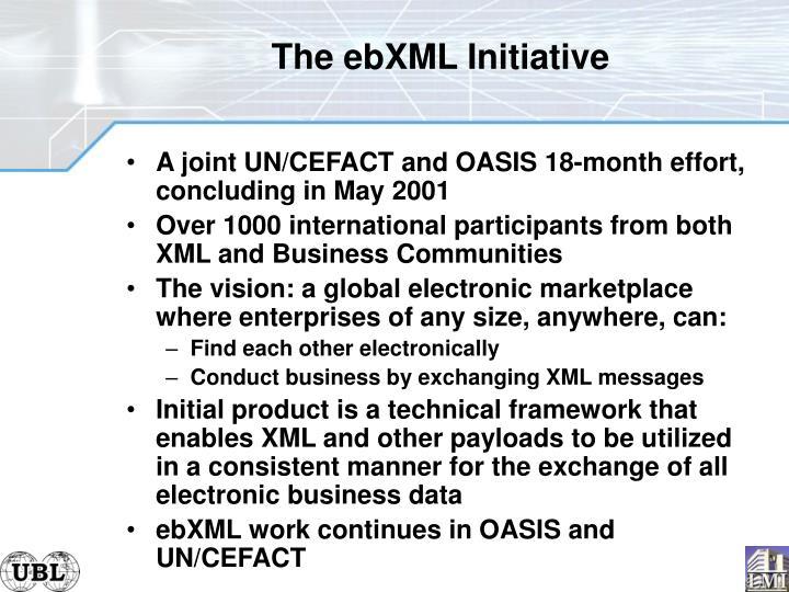 The ebXML Initiative