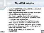 the ebxml initiative