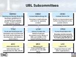 ubl subcommittees