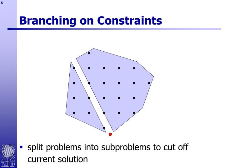 Branching on Constraints