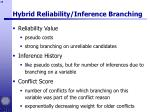 hybrid reliability inference branching