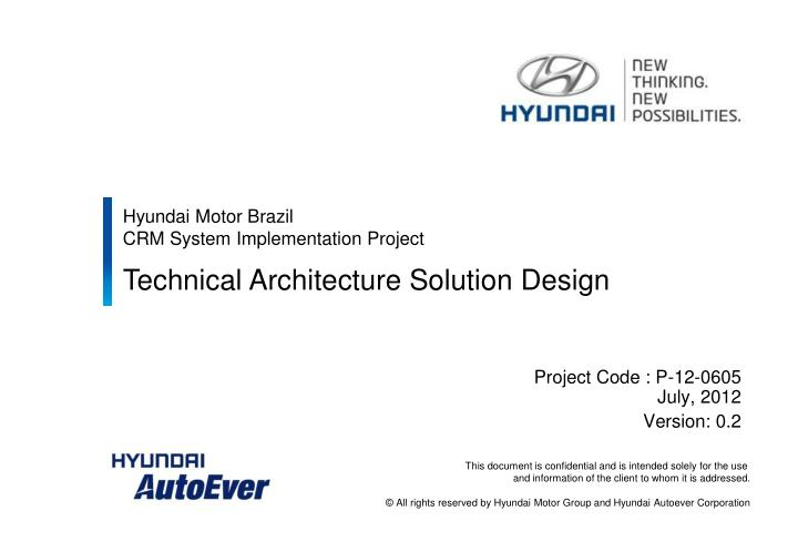 Ppt Hyundai Motor Brazil Crm System Implementation