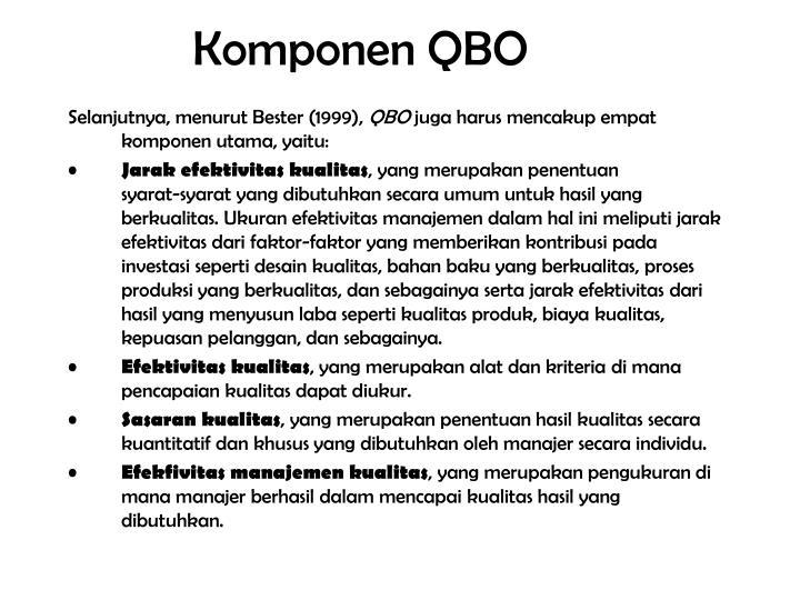 Komponen QBO
