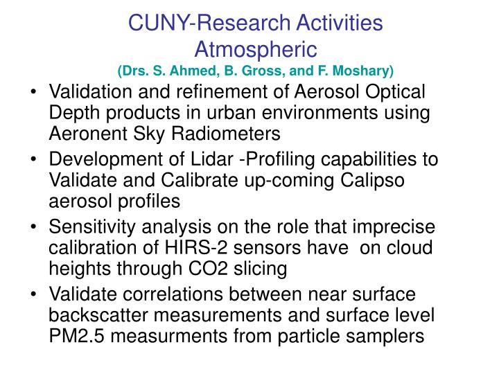 CUNY-Research Activities