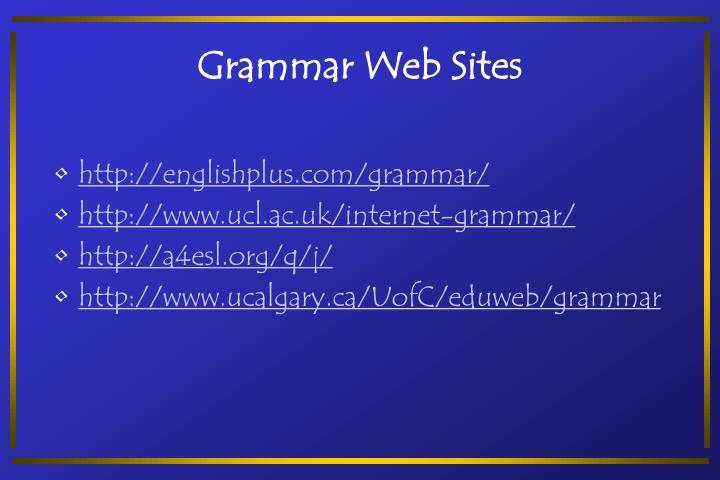 Grammar Web Sites