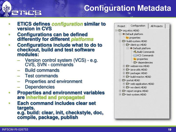 Configuration Metadata