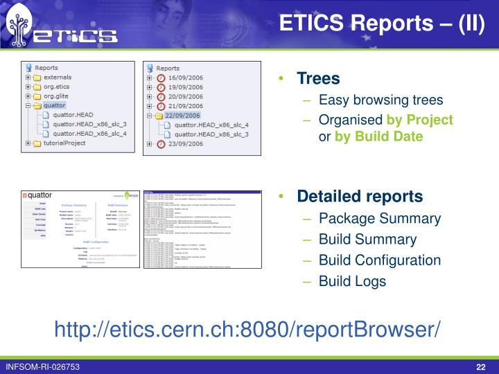ETICS Reports – (II)