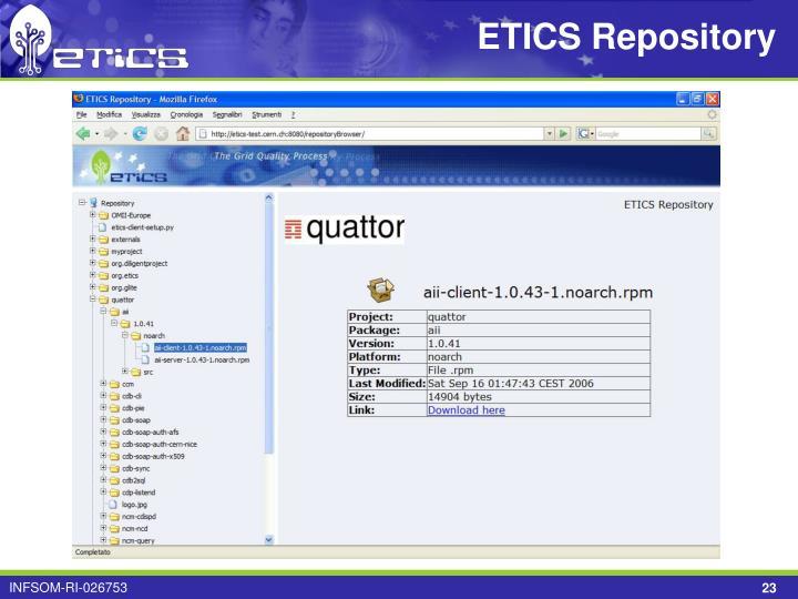 ETICS Repository