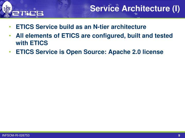 Service Architecture (I)