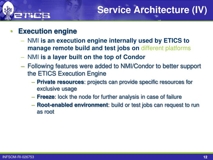 Service Architecture (IV)