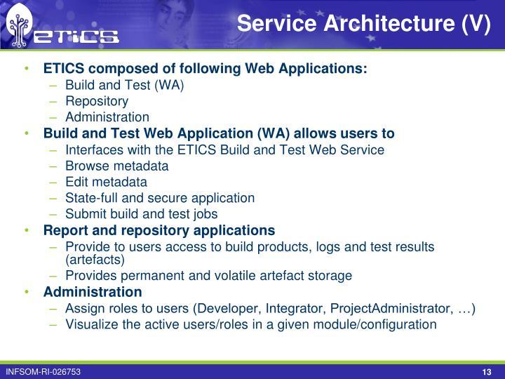 Service Architecture (V)