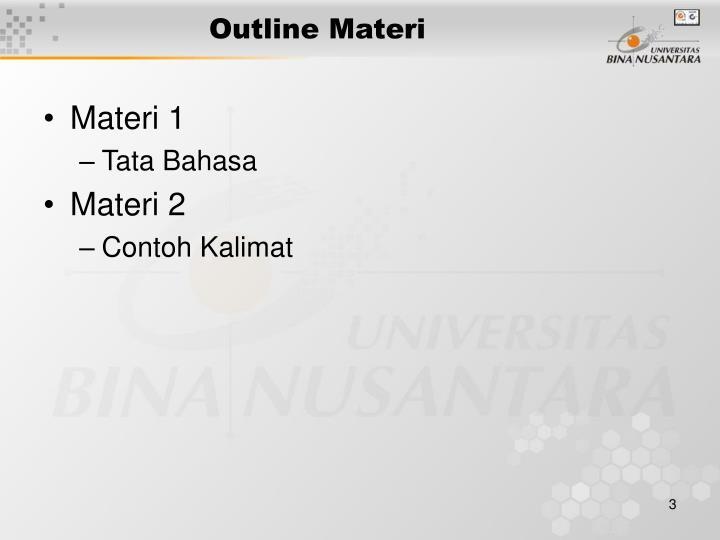 Outline Materi