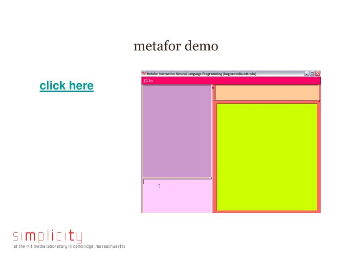 metafor demo