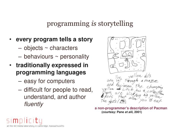 Programming is storytelling