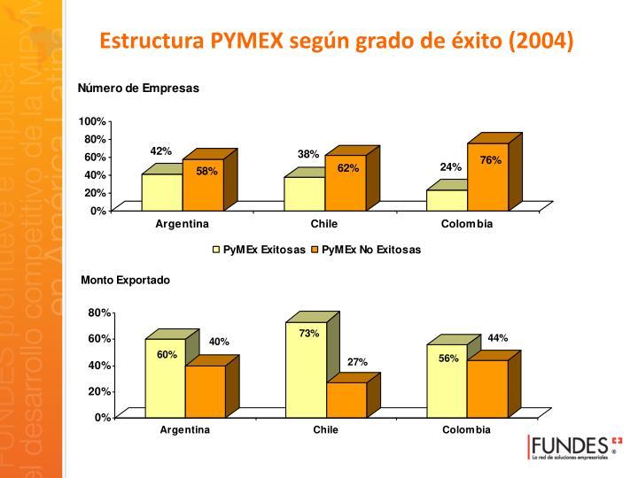 Estructura PYMEX según grado de éxito (2004)
