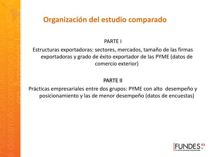 Organización del estudio comparado