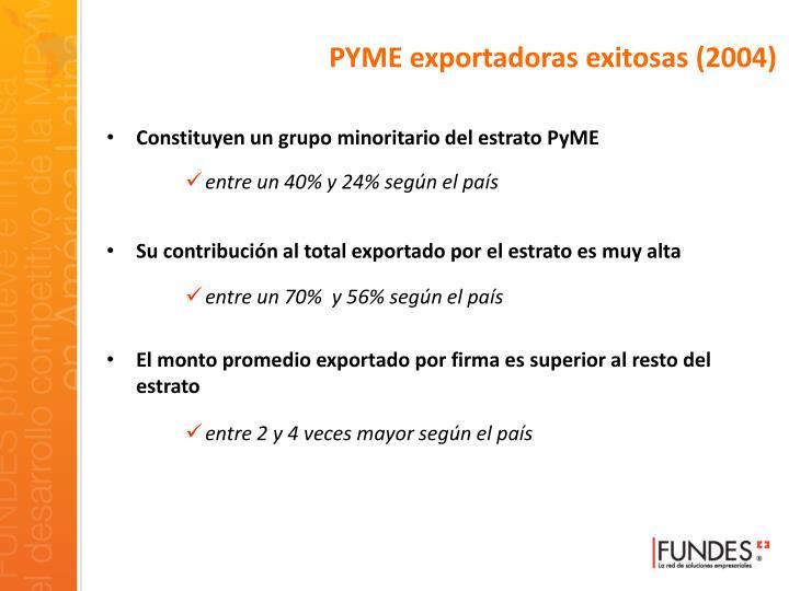 PYME exportadoras exitosas (2004)