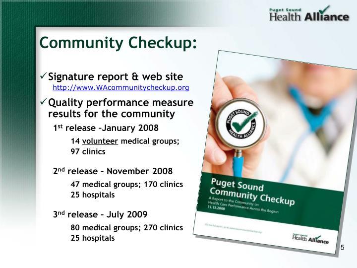 Community Checkup: