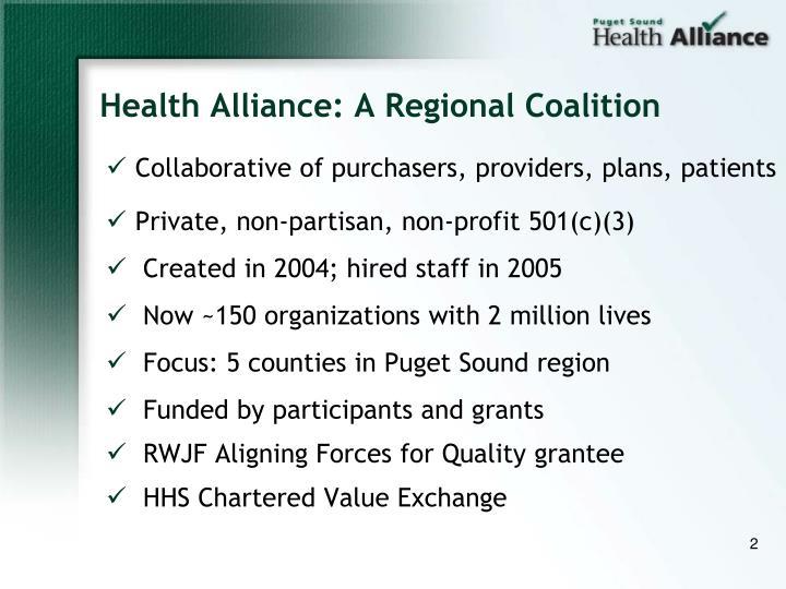 Health Alliance: A Regional Coalition