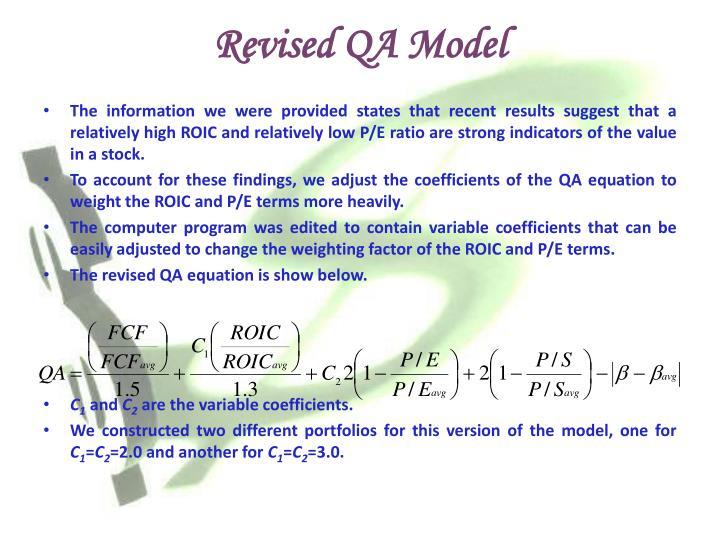 Revised QA Model