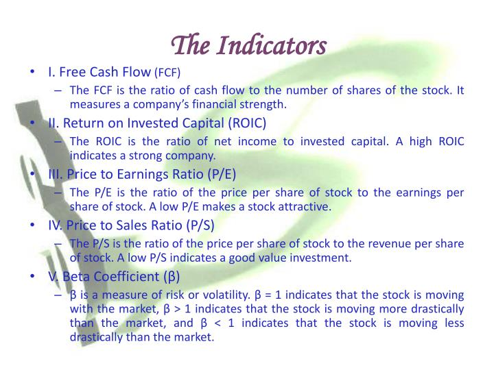 The Indicators