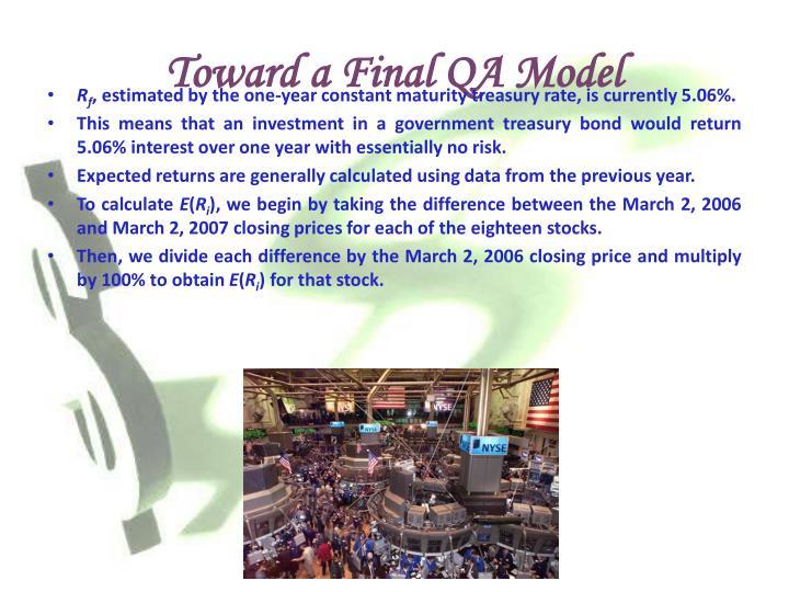 Toward a Final QA Model