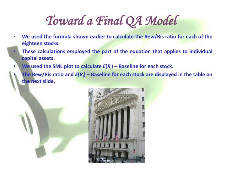 Toward a Final QA Model