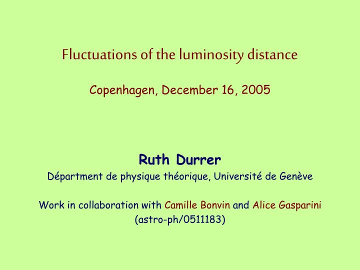 Fluctuations of the luminosity distance