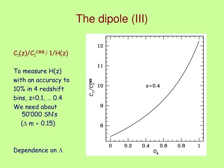 The dipole (III)