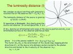 the luminosity distance i
