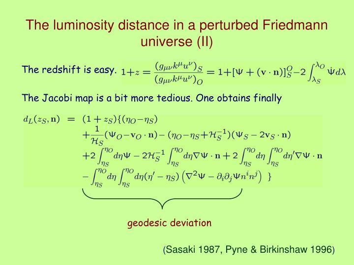 geodesic deviation