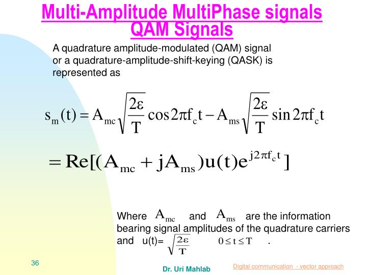 Multi-Amplitude MultiPhase signals