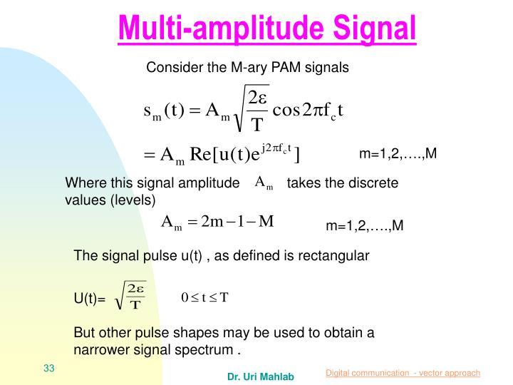 Multi-amplitude Signal