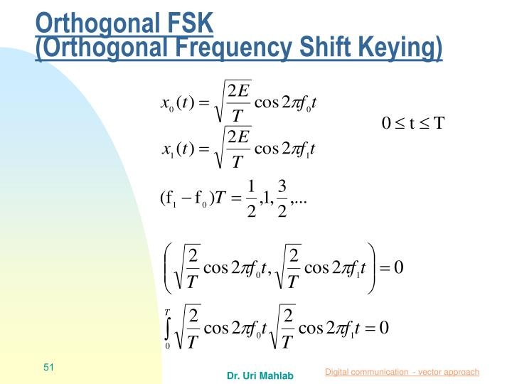 Orthogonal FSK