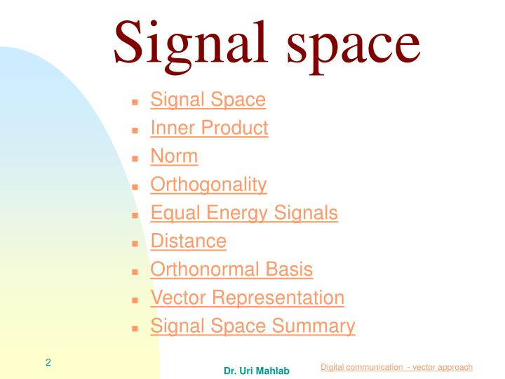 Signal space