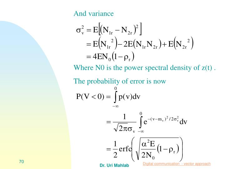 And variance
