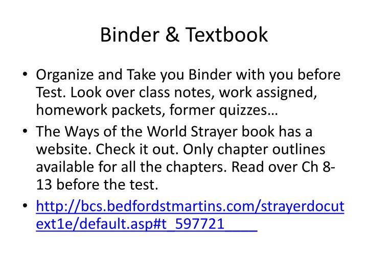 Binder & Textbook