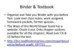 binder textbook
