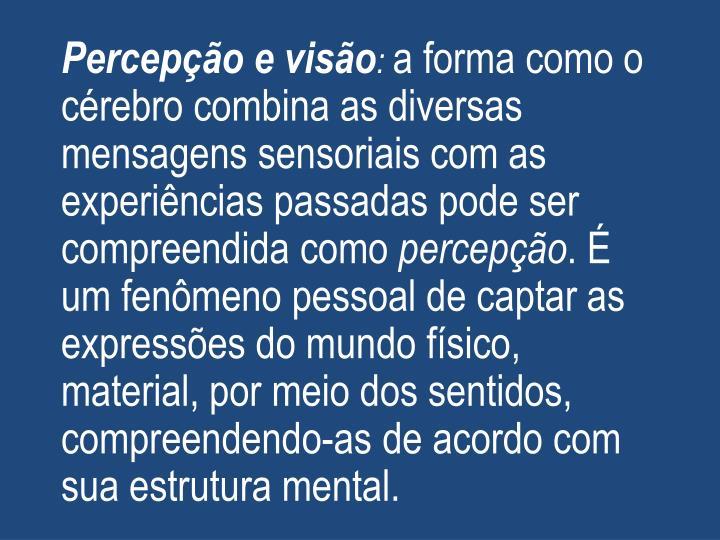 Percepção e visão