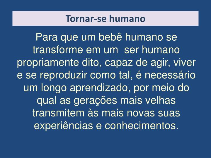 Tornar-se humano